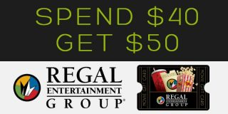 [EXPIRED][REGAL] Get Your $50 Gift Card for $40