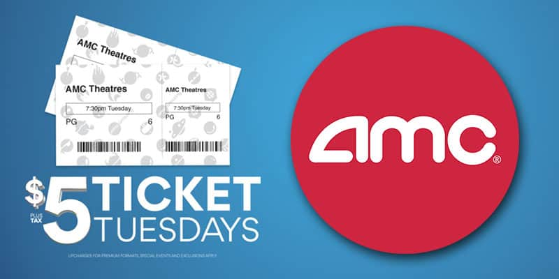 $5 AMC Movie Ticket Deal on Tuesdays