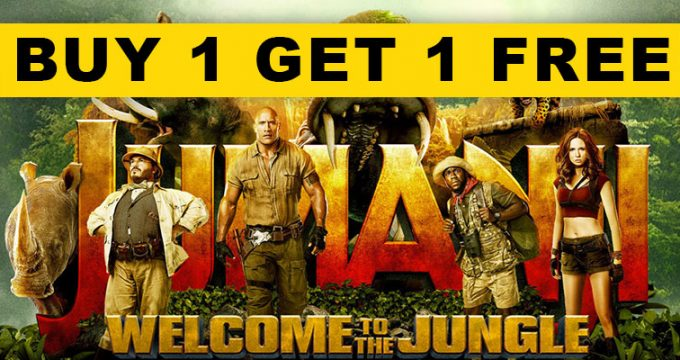 Buy 1 Get 1 Free Jumanji NYE Deal
