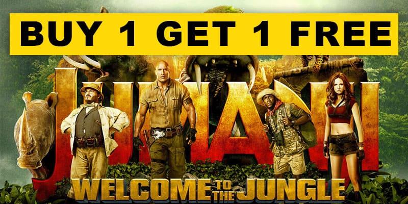 Buy 1 Get 1 Free Jumanji NYE Deal
