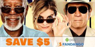 $5 Off Total Fandango Order w/ Google Pay   Movie Deal