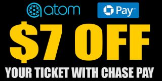 $7 Off w/ CHASE Pay @ ATOM Tickets | Movie Deal [expired]
